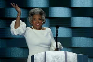Representative Joyce Beatty waves to the crowd during the 2016 Democratic National Convention.