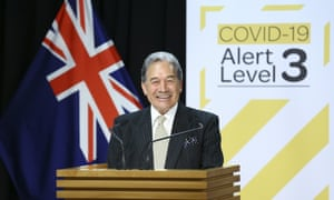 Minister for Racing Winston Peters speaks to media during a pre-budget racing announcement at Parliament on 12 May 2020 in Wellington, New Zealand.