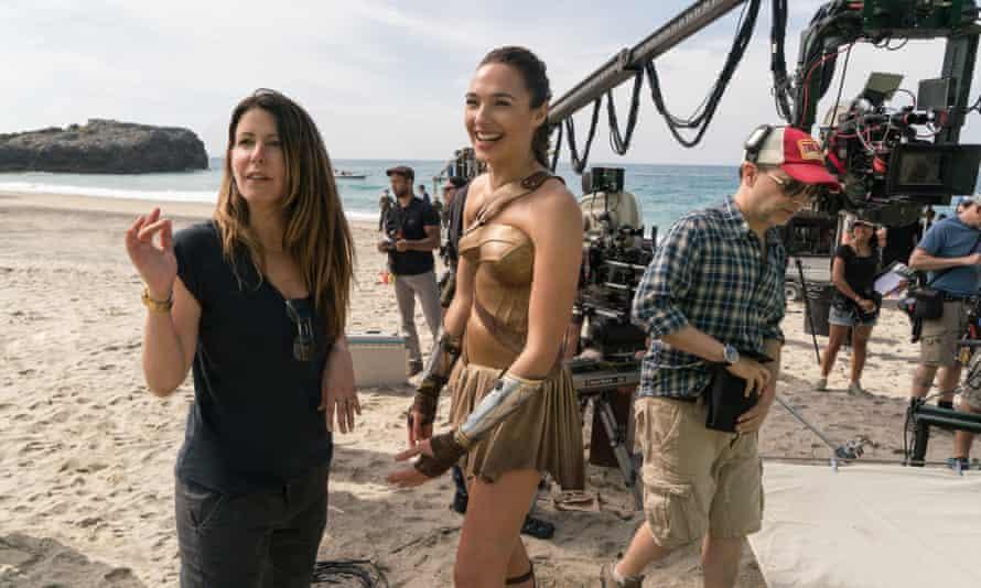 Patty Jenkins and Gal Gadot on the set of $800m blockbuster Wonder Woman.