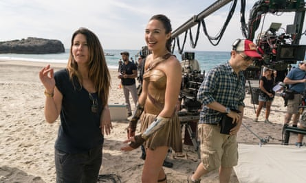 'I want to bring something beautiful into the world' … Jenkins and Gadot on the set of Wonder Woman.
