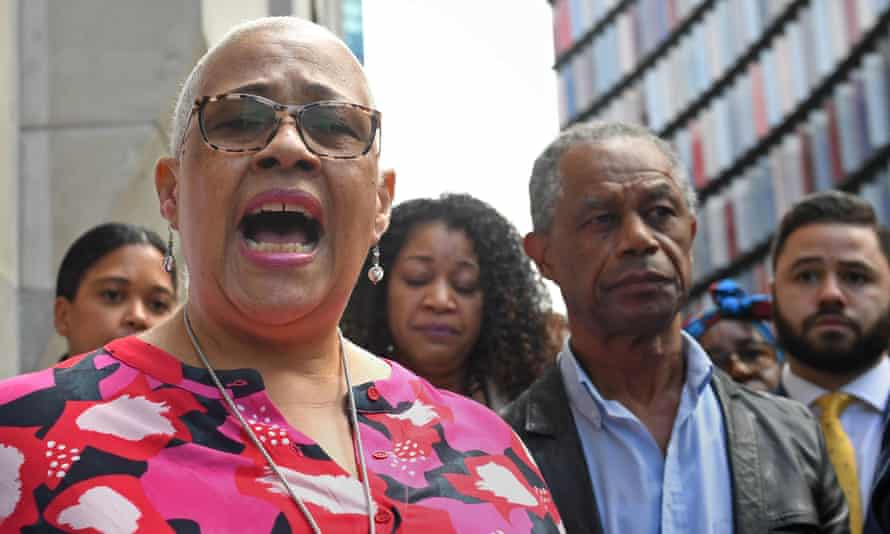 Mina Smallman, the mother of Bibaa Henry and Nicole Smallman, speaking outside the Old Bailey