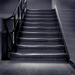 Prison Staircase, Auschwitz, by Simon Norfolk, which features in a new exhibition, ? The Image As Question.