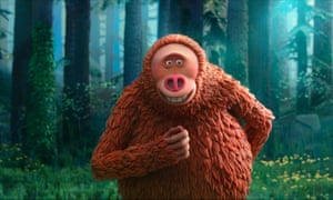 Missing Link features a 'marzipan-textured Bigfoot resembling a giant pine cone'.
