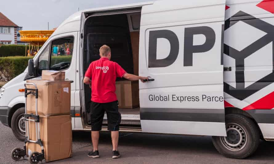 A DPD delivery driver