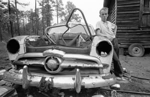 """Dr. Gatch Southern Poverty, Savannah, Ga., 1967. A tiny, isolated, poor community located not far away from Savannah's wealthiest parts. It was reported that families here suffered from five generations of inbreeding. """"Donald Gatch, a doctor friend, took me to a tiny isolated community that had suffered from what had been reported to be five generations of inbreeding. The inhabitants were reputed to be dangerous. I witnessed and photographed some of the worst and most desperate cases to support Dr. Gatch with testimony for Senator McGovern's committee on malnutrition at the time. Half a million dollars was raised to build a clinic in South Carolina."""""""