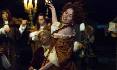Having a ball … Louise (Sarah Winter).