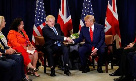 Boris Johnson and Donald Trump in 2019