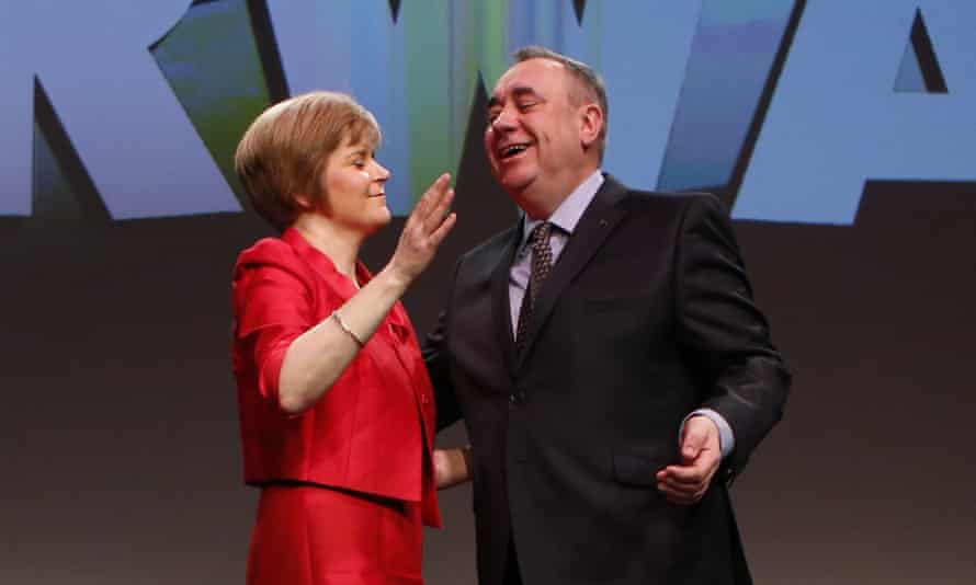Happier times: Alex Salmond and Nicola Sturgeon pictured together in 2014