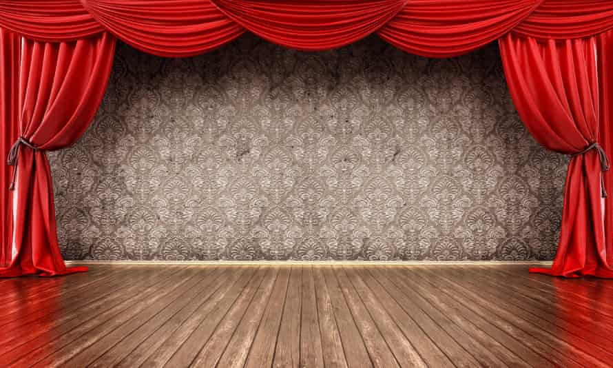 An empty theatre stage