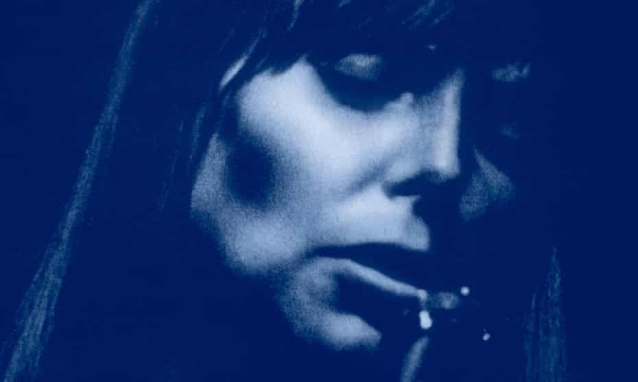 Detail from the cover of Joni Mitchell's 1971 album Blue.