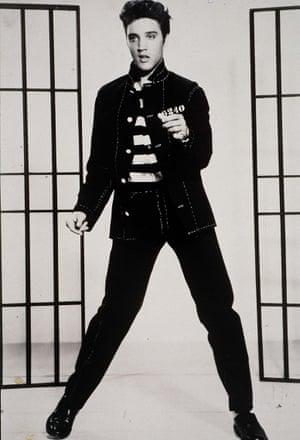 Elvis Presley in Jailhouse Rock (1957).