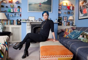 Singer Lily Allen at her home in west London