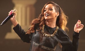 Rihanna performs in concert