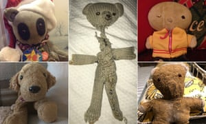 'Transitional objects' – teddies and comforters – sent in by readers to Guardian Community