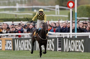Paul Townend on Al Boum Photo pulled away before the final fence and held on to win the Gold Cup