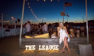 Amanda Bradford, the founder of the League, in Hamptons at a League party.  Photograph: Travis W Keyes/The League