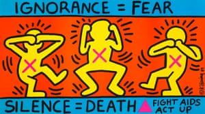 Keith Haring (1958-1990), Ignorance = Fear / Silence = Death, 1989
