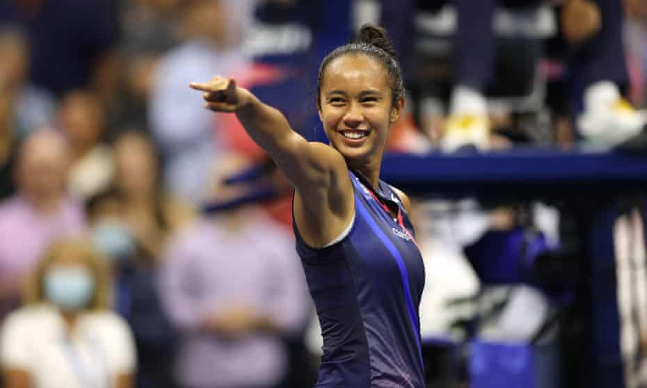 Leylah Annie Fernandez flies the flag for Canada in the US Open final