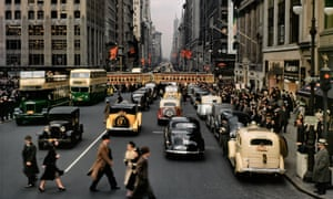 Glamour and excitement … Fifth Avenue in New York City in the 1940s.