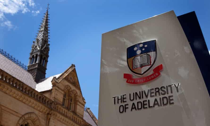University of Adelaide sign