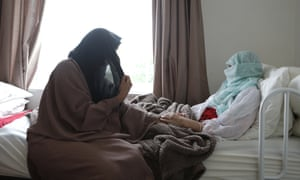 Leyla and Amal Al Jabiri at home in Sheffield.