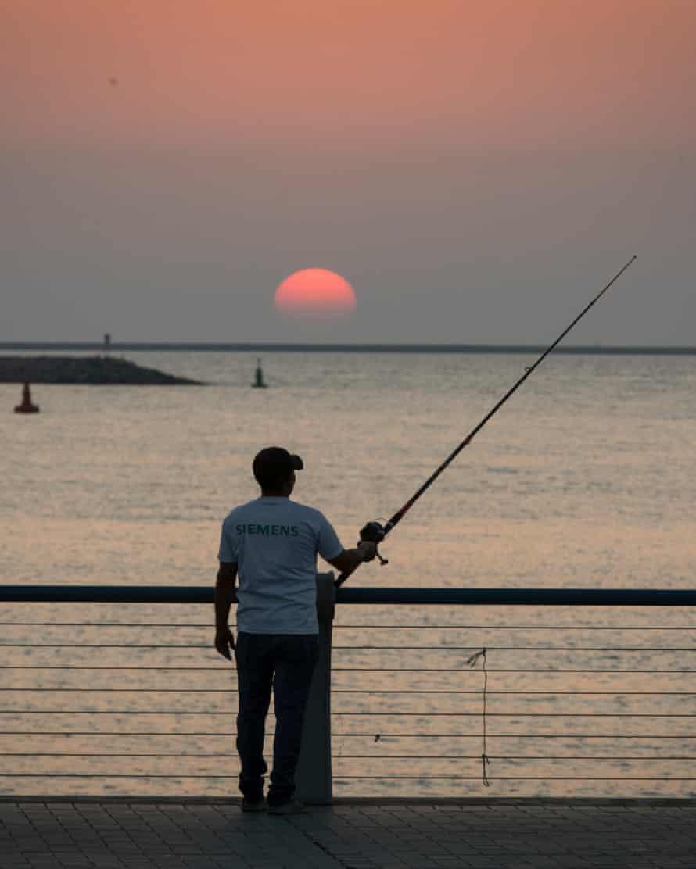 Fishing on Marina Village island