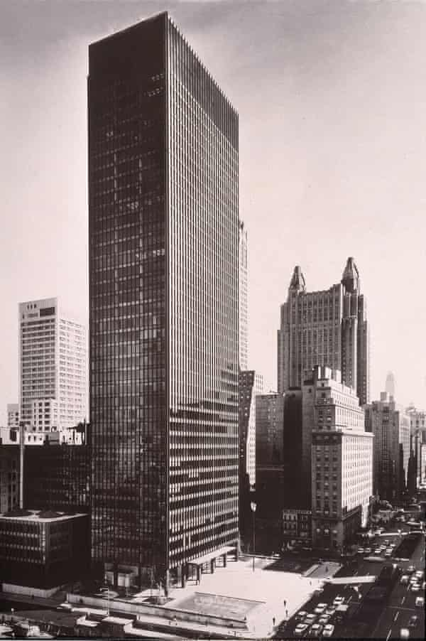 The Seagram Building in New York, completed in 1958 by Ludwig Mies van der Rohe and Philip Johnson.