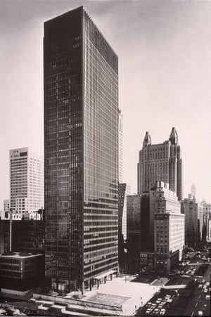 The Seagram Building in New York, pictured in 1960, two years after it was completed.