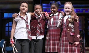 Jamal Ahmed, Samuelle John-Brown, Charis Claresta Tetteh and Amelie Green, who star in School of Rock.