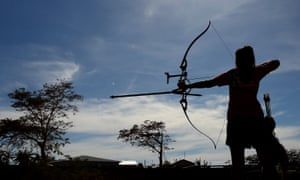 Archery at the Commonwealth Youth Games in Samoa.