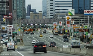 People commute from New Jersey to New York, US, through the Holland Tunnel.