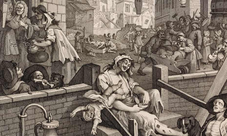 A detail from Gin Lane by William Hogarth.