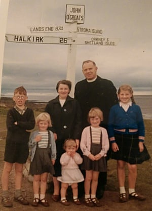 Joan with her parents, brother and sisters.