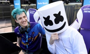 Fortnite superstar Ninja and DJ Marshmello make a formidable team at the Epic Games Fortnite E3 Tournament.