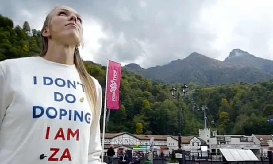 Nadezhda Sergeeva in the Instagram video