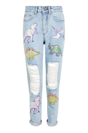 Dinosaur jeans by Kuccia at Topshop