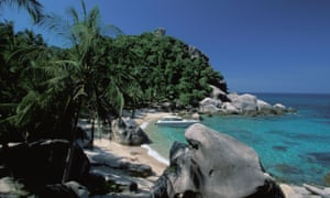 One of the beaches on Koh Tao, Thailand.