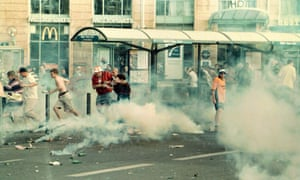 England fans in Marseille during the 1998 World Cup