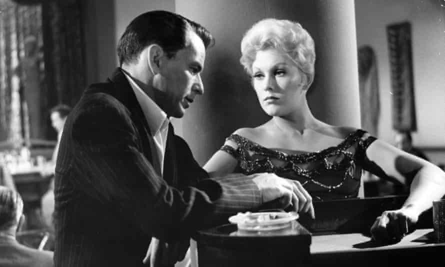 With Frank Sinatra in The Man With the Golden Arm.