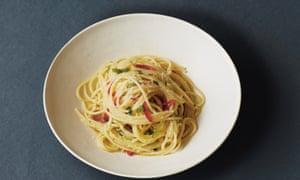 Garlic, oil and chilli spaghetti.