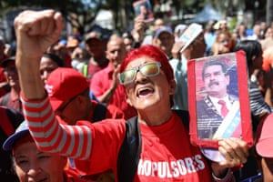 Caracas, Venezuela Chavistas participate in an event to support President Nicolas Maduro, during the commemoration of the 27th anniversary of the first coup attempt by late Hugo Chavez.