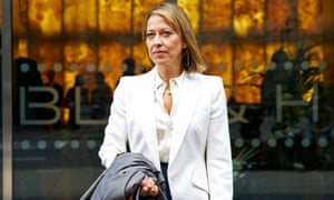 Her nipped-in suits and high heels are armour … Nicola Walker as Hannah.