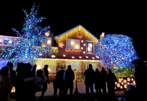The glittery display in Trinity Close in Burnham-on-Sea have led to the cul-de-sac being named Britain's most festive street