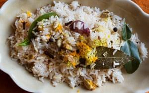 'The rice calms, the citrus notes invigorate': citrus rice.