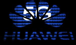 A 3-D printed Huawei logo