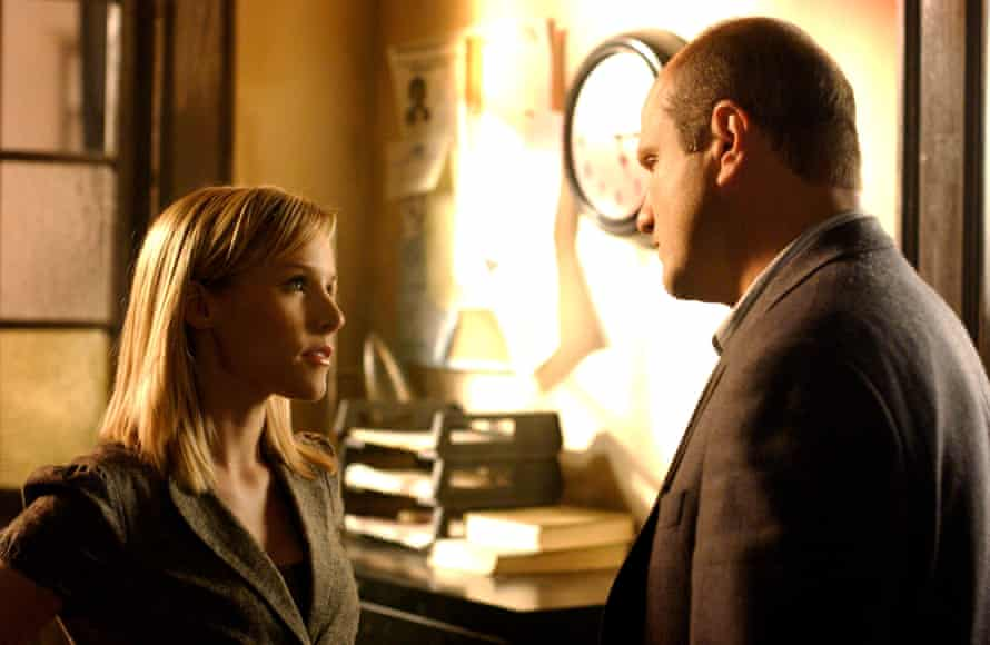 Kristen Bell and Enrico Colantoni as sleuthing father-daughter team.