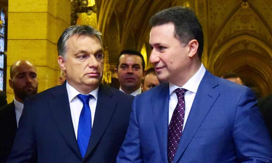 Viktor Orbán and Nikola Gruevski