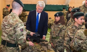 Michael Fallon launches army cadets scheme at 'Trojan horse