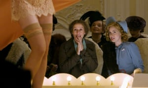 Frances McDormand, left, as Miss Pettigrew and Amy Adams as Miss LaFosse in the 2008 adaptation.