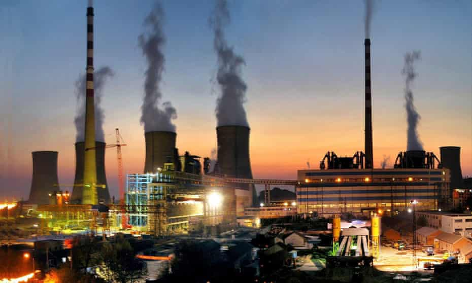A general view over the Huaibei coal-fired power plant in Haibei city, Anhui province, China
